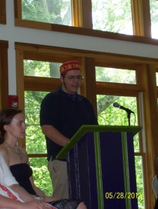 Humor brought us to this day - Aryeh's graduation from Fairhaven School.