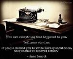 Lamott writing saying