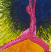 Netzach Image - Reaching for all that is within life. Courtesy of Jennifer Judelsohn from her Sefirot collection of paintings.