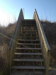 Climbing towards the beach -Topsail, NC  Photo courtesy of Wendy Harris Delson