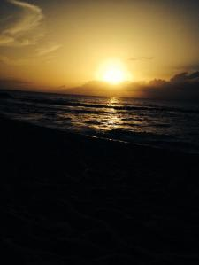 Sunset near Pupukea Hawaii; Photo coutesy of  Kathleen Kendle