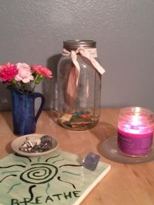 This week, I started filling my happiness jar with positive things that happen each day.