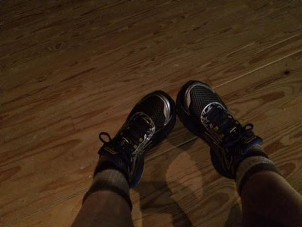 my feet at the museum