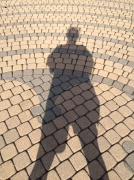 Shadow at a labyrinth