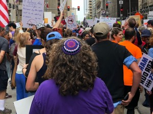 Chava from behind with kippah