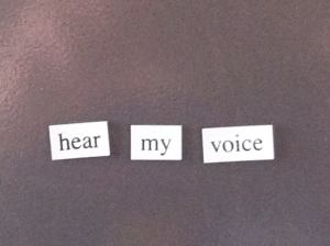 here my voice